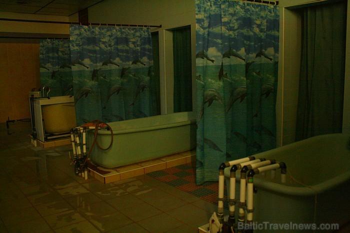 """Dažādām vannas procedūrām piemēram, miega traucēumiem, ādas slimībā galvenokārt izmanto sāļo minerāldūdeni """"Värska-6. Foto: www.spavarska.ee"""