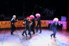Skolēnu brīvlaikā uz Tallink kuģa dejotprasmi rādīja Dzintariņš un Dzītariņš, bet leļļu teātris priecēja ar izrādi Joka pēc alfabēts. Foto: Juris Ķilk 11