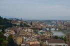 Florence. Skats no Mikelandželo laukumiņa. Slēgtais tilts pār Arno upi, Ponte Vechio 4