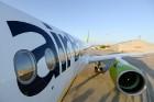 Lidosta «Rīga» un «Airbaltic» medijiem atrāda savu infrastruktūru un gaisa floti 28