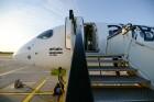 Lidosta «Rīga» un «Airbaltic» medijiem atrāda savu infrastruktūru un gaisa floti 45