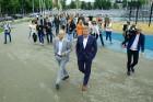 Rīgā aktīvi norisinās darbi, lai 16.septembrī atklātu Centra sporta kvartālu 2