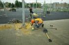 Rīgā aktīvi norisinās darbi, lai 16.septembrī atklātu Centra sporta kvartālu 15