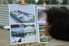 Rīgā aktīvi norisinās darbi, lai 16.septembrī atklātu Centra sporta kvartālu 21