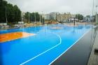 Rīgā aktīvi norisinās darbi, lai 16.septembrī atklātu Centra sporta kvartālu 27