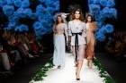 Rīgas Modes nedēļas ietvaros Latvijas dizaineru krāšņie tērpi atklāj jaunakās tendences un divas no gaidītākajām ir jutekliskā «Amoralle» un romantisk 76