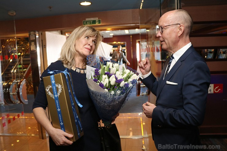 Prāmju kompānija «Tallink Grupp» uz «Romantika» klāja svin 30 gadu jubileju un 13 gadus Latvijā 250648