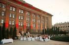 Viesnīcas Park Hotel Latgola restorāna PLAZA komanda 22.08.2019 rīkoja ekskluzīvas vakariņas neparastā vietā - Daugavpils Universitātes skvērā 44