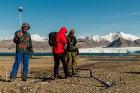 Latvijas Universitātes zinātnieki atgriezušies no ekspedīcijas Svalbāras arhipelāgā, kur tie pētīja ledājus un vides piesārņojumu vietā, kuru no Zieme 65