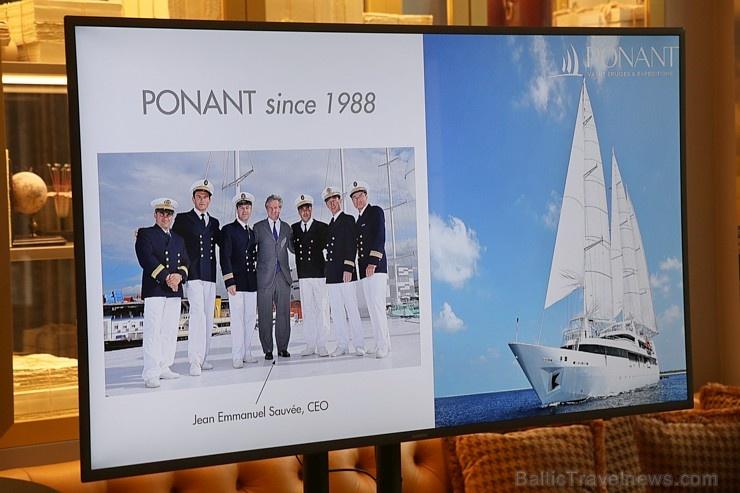 Tūrisma firma «Cruiselines» pie brokastu galda restorānā «Snob» iepazīstina ar  premium klases kruīzu kompāniju «Ponant»