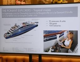 Tūrisma firma «Cruiselines» pie brokastu galda restorānā «Snob» iepazīstina ar  premium klases kruīzu kompāniju «Ponant» 15