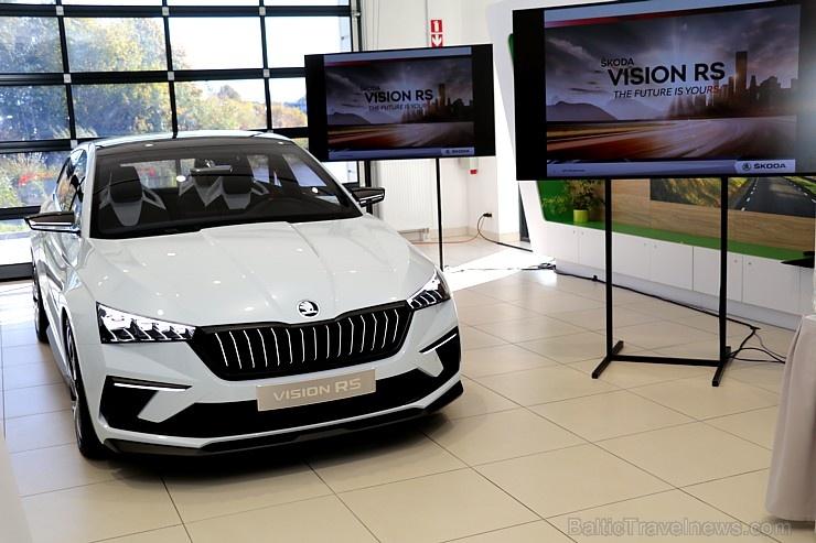«Green Motors» divas dienas publikai prezentē jaunā koncepta auto «Škoda Vision RS»