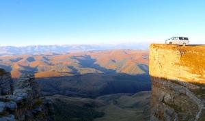 Travelnews.lv rīta agrumā apjūsmo Eiropas augstāko virsotni Elbruss. Atbalsta: Magtur 7