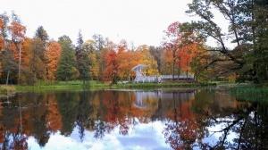 Preiļu pilsētu un parku ieskauj rudens zelts 8
