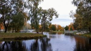 Preiļu pilsētu un parku ieskauj rudens zelts 17
