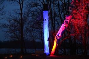 Lielvārdes muižas parku pasākumā «Sveču nakts» piepilda gaismas un uguns mistērija 4