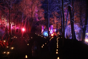 Lielvārdes muižas parku pasākumā «Sveču nakts» piepilda gaismas un uguns mistērija 17