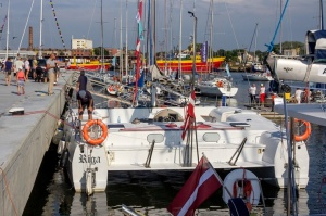 Ventspilī uz «Gulf of Riga Regatta 2020» buru parādi ierodas vairāk nekā 50 jahtas 57