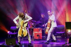Melo-M un Dināra Rudāne ar lielām emocijām uzstājas Liepājas koncertzālē «Lielais dzintars». Foto: Līga Tetere 10