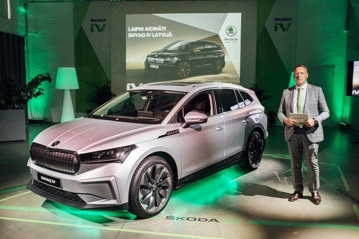 Rīgā tikai dažas dienas prezentē jauno un elektrisko ŠKODA ENYAQ iV
