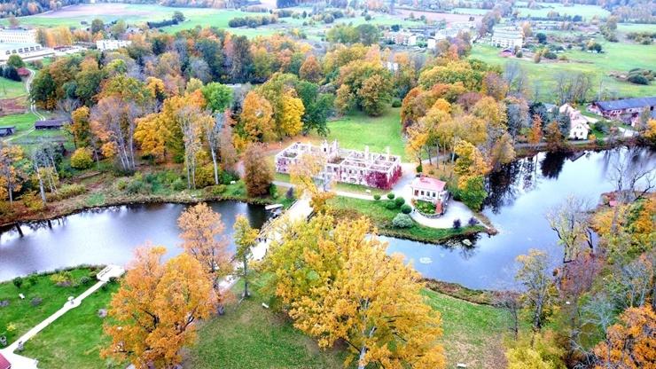 «Rankas muiža» ietērpusies košās rudens krāsās. Foto: Rankasmuiza.lv 292448
